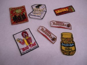 Vintage 1970s Kooky patches