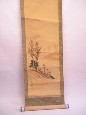 19th c Japanese scroll