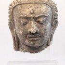 Northern Thai Haripunjaya stucco head of Buddha 11thc