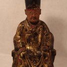 Qing Dynasty Buddhist Wood figure seated on Throne