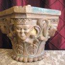 Antique  19th hardwood carved Column capital