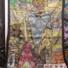 India vintage embroidery tapestry wall hanging