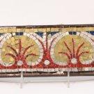 Roman Gold and Silver Glass Mosaic Palmetto Design Border section