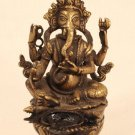 Nepalese Lost Wax Cast Hindu God Ganesha Oil Lamp