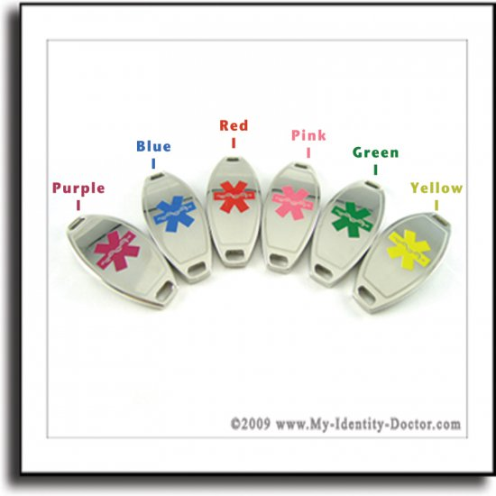 ID Plates for Medical Alert Bracelets, Beaded Jewelry & Chains