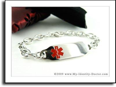 Womens Medical Alert Bracelet, O-LINK Chain, Medical ID