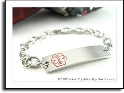 Womens Medical Alert Identity, O-LINK ID Bracelet