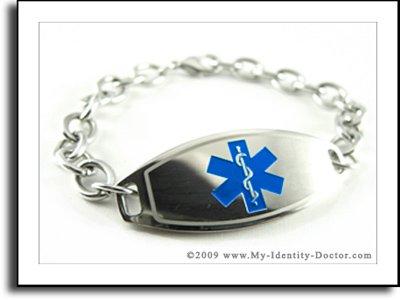 Girls, Kids Medical Identification Bracelet, ENGRAVED