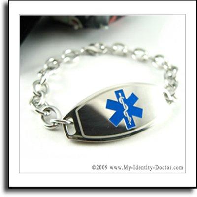 Diabetes Supplies, Medical Alert ID Bracelet Engraved