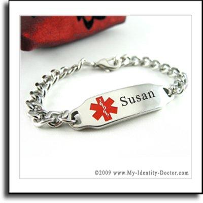 Custom Engraved Medical ID Bracelet, Multiple Sclerosis