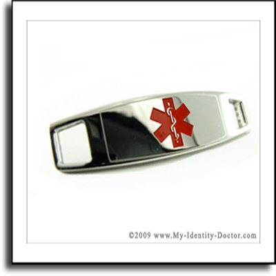 Modern 2mm Polished Medical Alert ID Plate Engraved