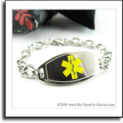 Medical ID Bracelet, Multiple Sclerosis - Engraved Free
