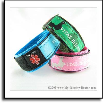 Kids Adjustable Medical Identification Bracelet Band