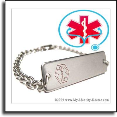 FREE Custom ENGRAVED - Mens Medical ID Alert Bracelets
