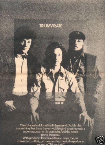 TRIUMVIRATE POSTER TYPE AD 1973