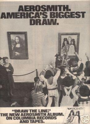 AEROSMITH DRAW THE LINE VINTAGE LP PROMO AD 1978