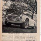 1962 1963 TRIUMPH TR-4 TR4 TR 4 VINTAGE CAR AD