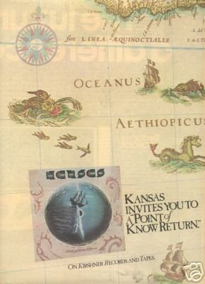 KANSAS A POINT OF KNOW RETURN PROMO AD 1977