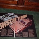 1976 1977 PORSCHE TURBO CARRERA VINTAGE CAR AD 2-PAGE
