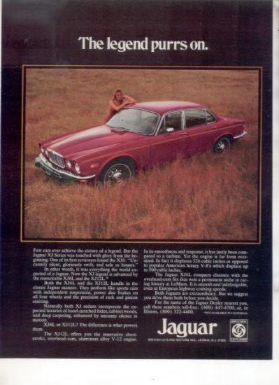 1975 JAGUAR XJ VINTAGE CAR AD