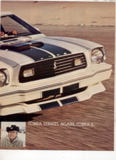 1976 FORD MUSTANG COBRA VINTAGE CAR AD 2-PAGE AWESOME