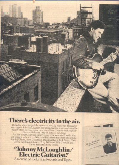 * 1978 JOHNNY MCLAUGHLIN POSTER TYPE AD