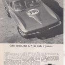 1965 1966 CHEVY CORVETTE 396 VINTAGE CAR AD
