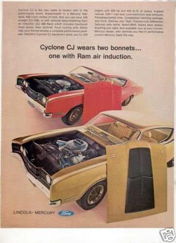 1968 MERCURY CYCLONE CJ AD