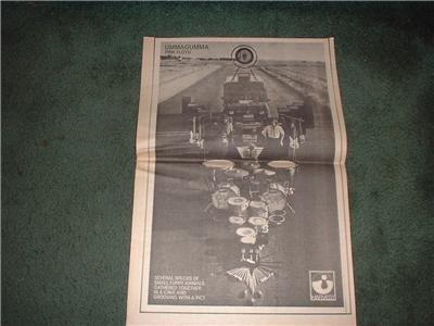 1970 PINK FLOYD UMMAGUMMA POSTER TYPE AD