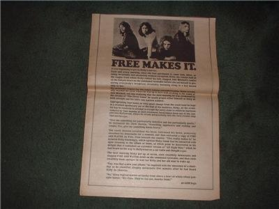 1970 FREE MAKES IT POSTER TYPE  AD