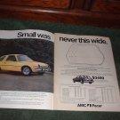 1976 AMC PACER VINTAGE CAR AD 2-PAGE