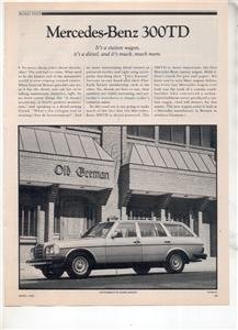 1980 MERCEDES BENZ 300 TD 300TD ROAD TEST AD 5-PAGE