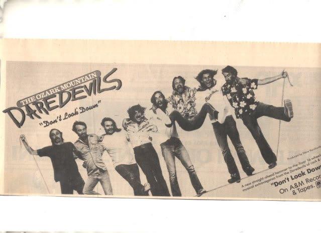 1977 THE OZARK MOUNTAIN DAREDEVILS PROMO AD