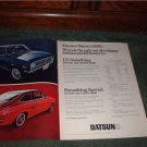 1970 1971 DATSUN 1200 COUPE 1200 SEDAN CAR AD