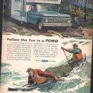 * 1964 FORD PICKUP TRUCK PHOTO PRINT AD