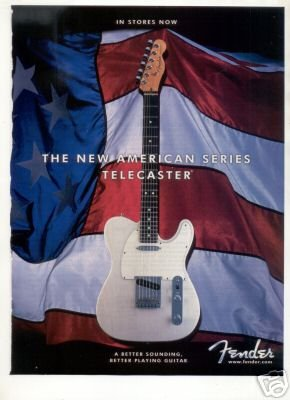 FENDER TELECASTER AMERICAN SERIES PROMO AD 2001