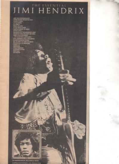 1978 JIMI HENDRIX THE ESSENTIAL PROMO AD