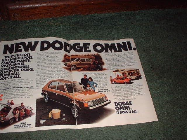 1978 1979 DODGE OMNI VINTAGE CAR AD 2-PAGE