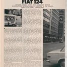 1970 1971 FIAT 124 VINTAGE ROAD TEST AD 5-PAGE