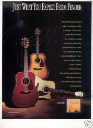 FENDER ACOUSTIC GUITAR AD DG SERIES 1995
