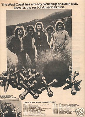 BALLIN JACK POSTER TYPE PROMO AD 1973
