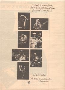 1980 THE DOOBIE BROTHERS POSTER TYPE AD