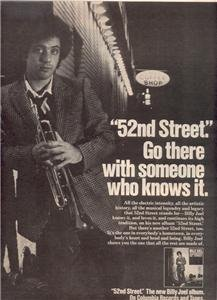 1978 BILLY JOEL 52ND STREET POSTER TYPE AD