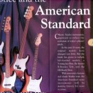 FENDER GUITAR AD 2-PAGE AMERICAN STANDARD SERIES 1997