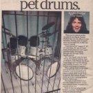 1979 AYNSLEY DUNBAR THE HAWK LUDWIG DRUM POSTER TYPE AD