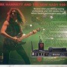 * 1993 METALLICA KIRK HAMMETT NADY SYSTEMS AD