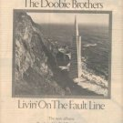 THE DOOBIE BROTHERS LIVIN ON THE FAULT LINE PROMO AD