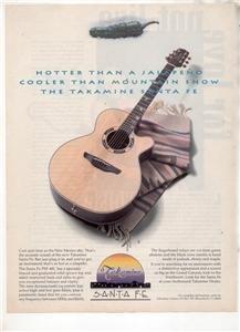 1994 TAKAMINE SANTA FE GUITAR AD