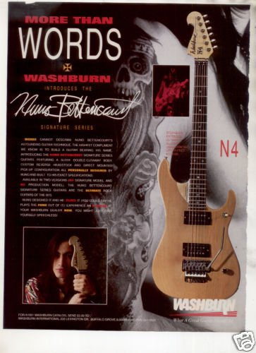 1991 NUNO BETTENCOURT WASHBURN SIGNATURE GUITAR AD