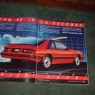 1982 1983 MERCURY CAPRI CAR AD 2-PAGE